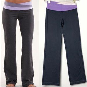 Lululemon Astro Pants in Grey, Purple, & White (6)